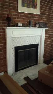 Mitchell fireplace after