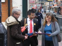 Willesden resident signing NHS petition