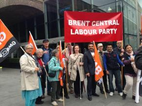 Brent Labour at NHS march