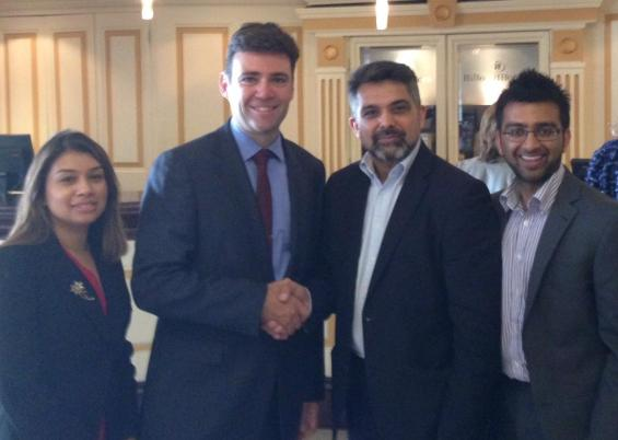 With Tulip and Mo Butt and Andy Burnham