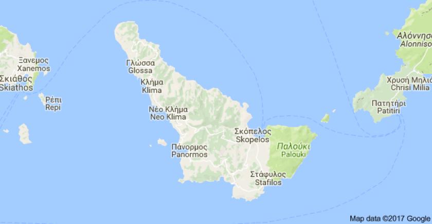 Skopelos map