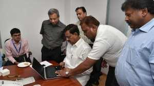 Min Subhash Deshmukh at Helpline Service Inauguration 2
