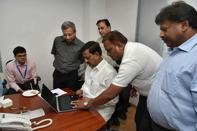 Min Subhash Deshmukh at Helpline Service Inauguration 2