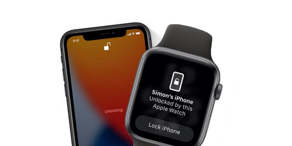 apple iPhone and an iWatch