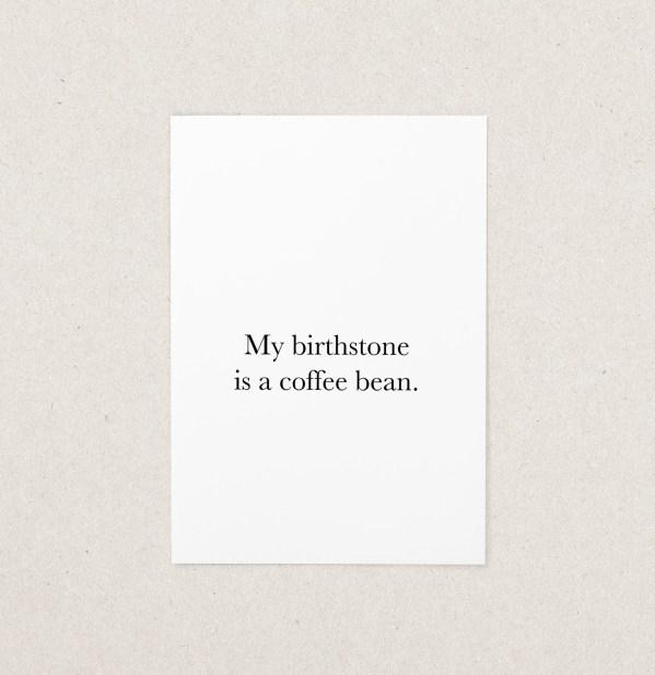 Postkarte Birthstone Coffee Bean