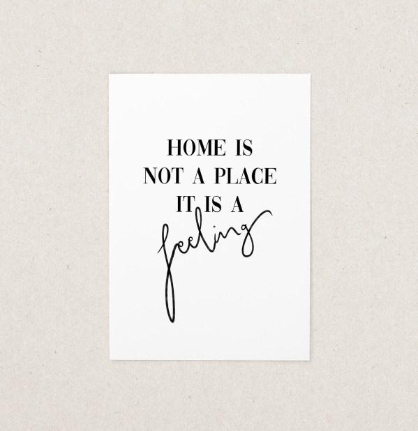 Postkarte Zuhause Home Familie