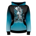 fish-dance-blue-womens-pullover-hoodie