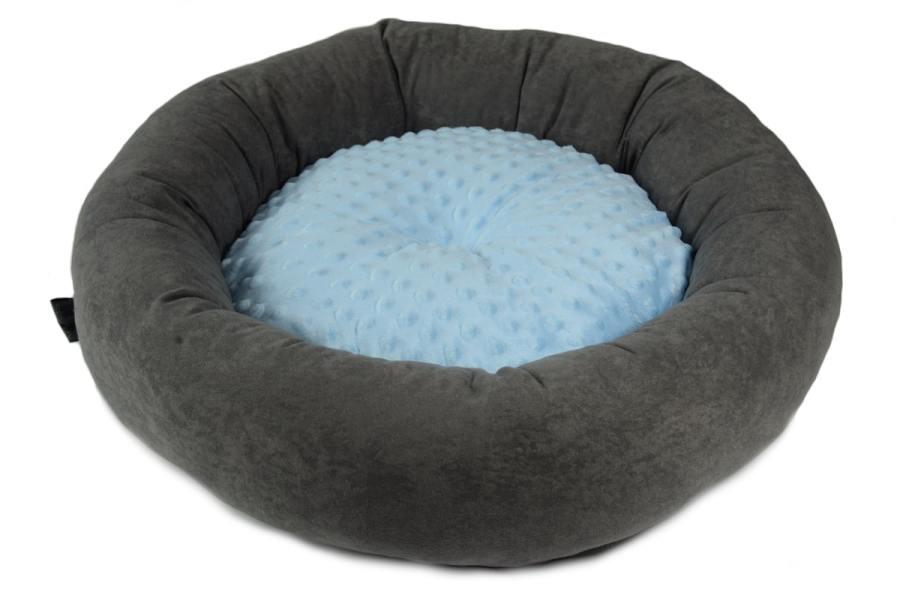 Antyalergiczne okrągłe legowisko Grey&Minky