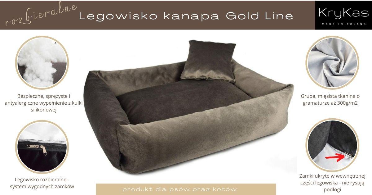 KryKas - legowisko rozbieralne - kanapa Gold Line
