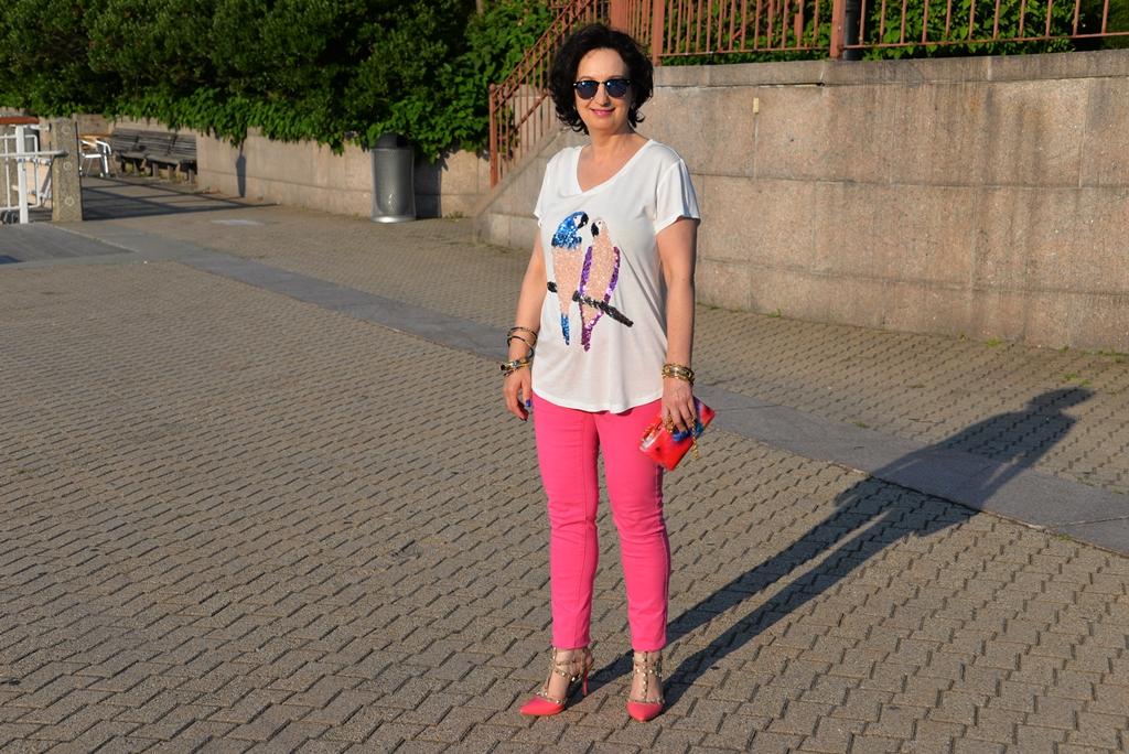 Rózowe spodnie 1