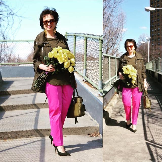 ootd moda polishwoman polishblogger instamoment picoftheday pink amaranth streetchic streetstylehellip