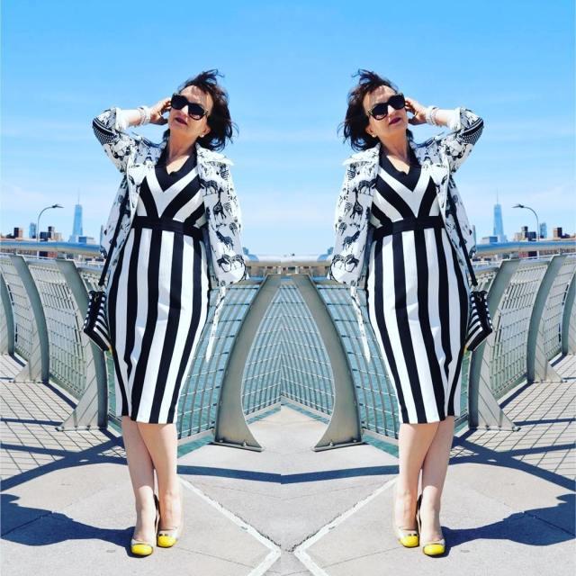 blackandwhitefashion stripes moda dress jacket fashion mylook mystyle myblog bloggerhellip