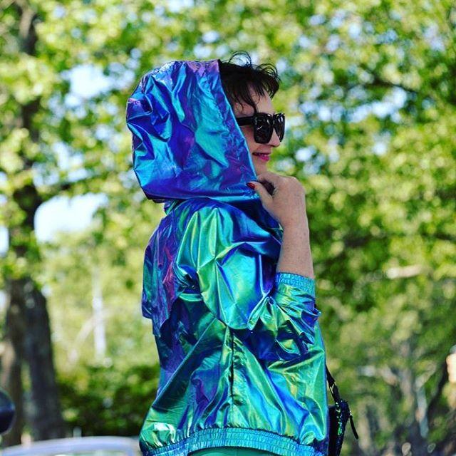 Soon on my blog fashionblogger fashionpost ootd holographic jacket todayhellip