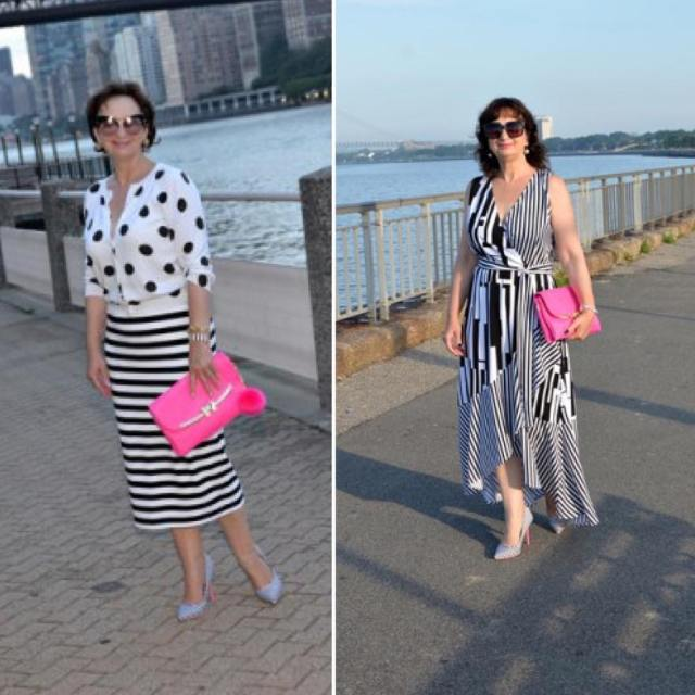 hello today blackandwhite pink highheels polkadots stripes skirt dress mystylehellip