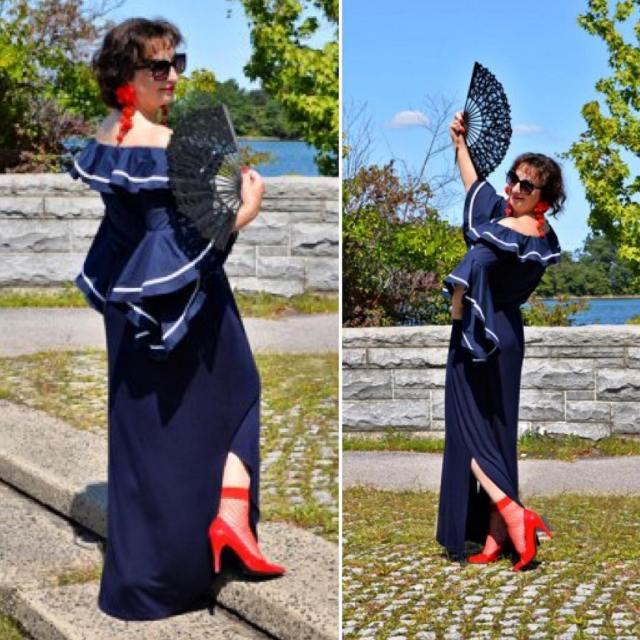 hi today blogpost fashionblog fashion styleover50 style modnapolka flamencostyle taniechellip