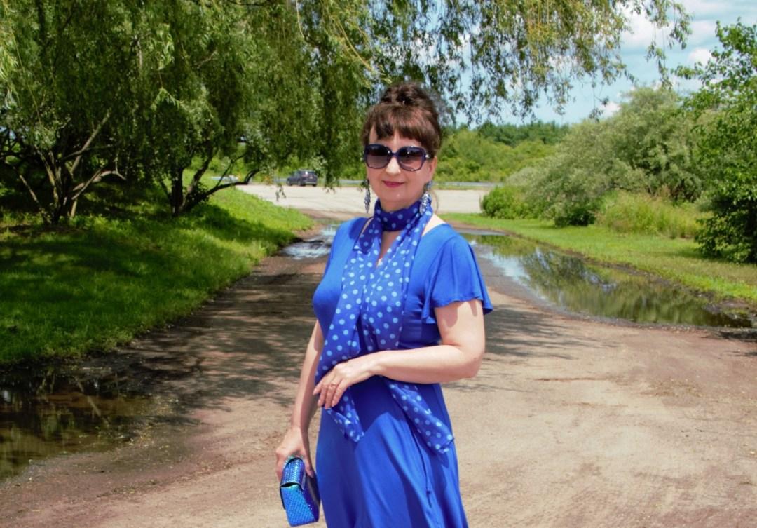 KOBALTOWA SUKIENKA – COBALT DRESS