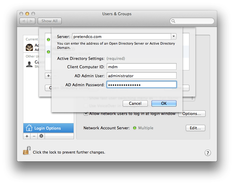 Integrating Mac OS X Lion Server's Profile Manager With