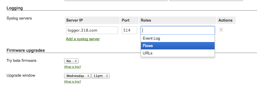 Configure Syslog Options on a Meraki - krypted