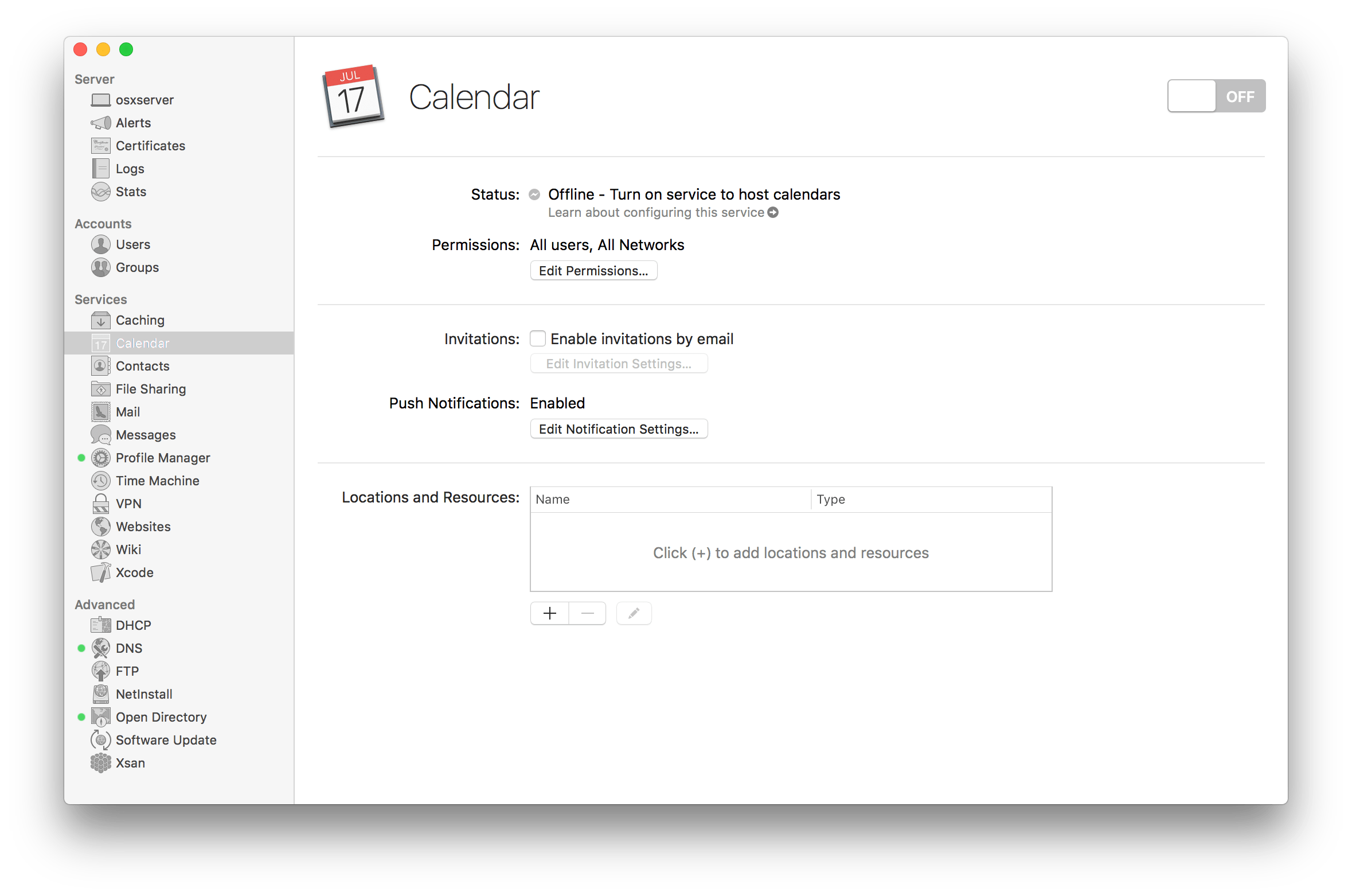 Configure the Calendar Server In El Capitan Server - krypted
