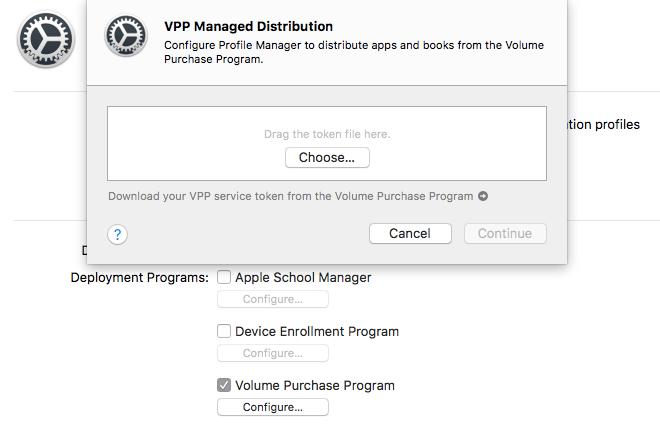 apple school manager download vpp token