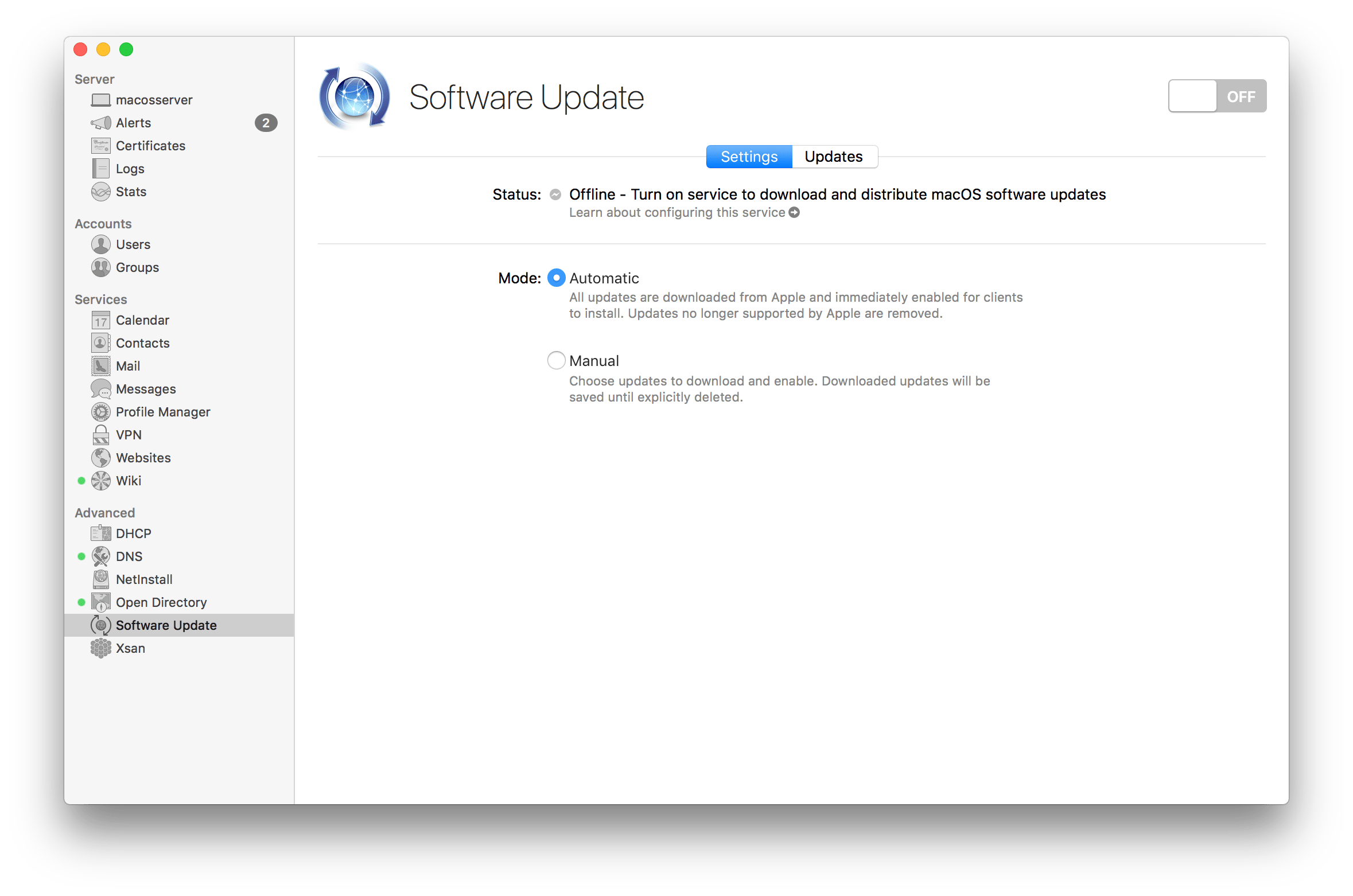 Manage The Software Update Service In macOS Server 5 4 - krypted