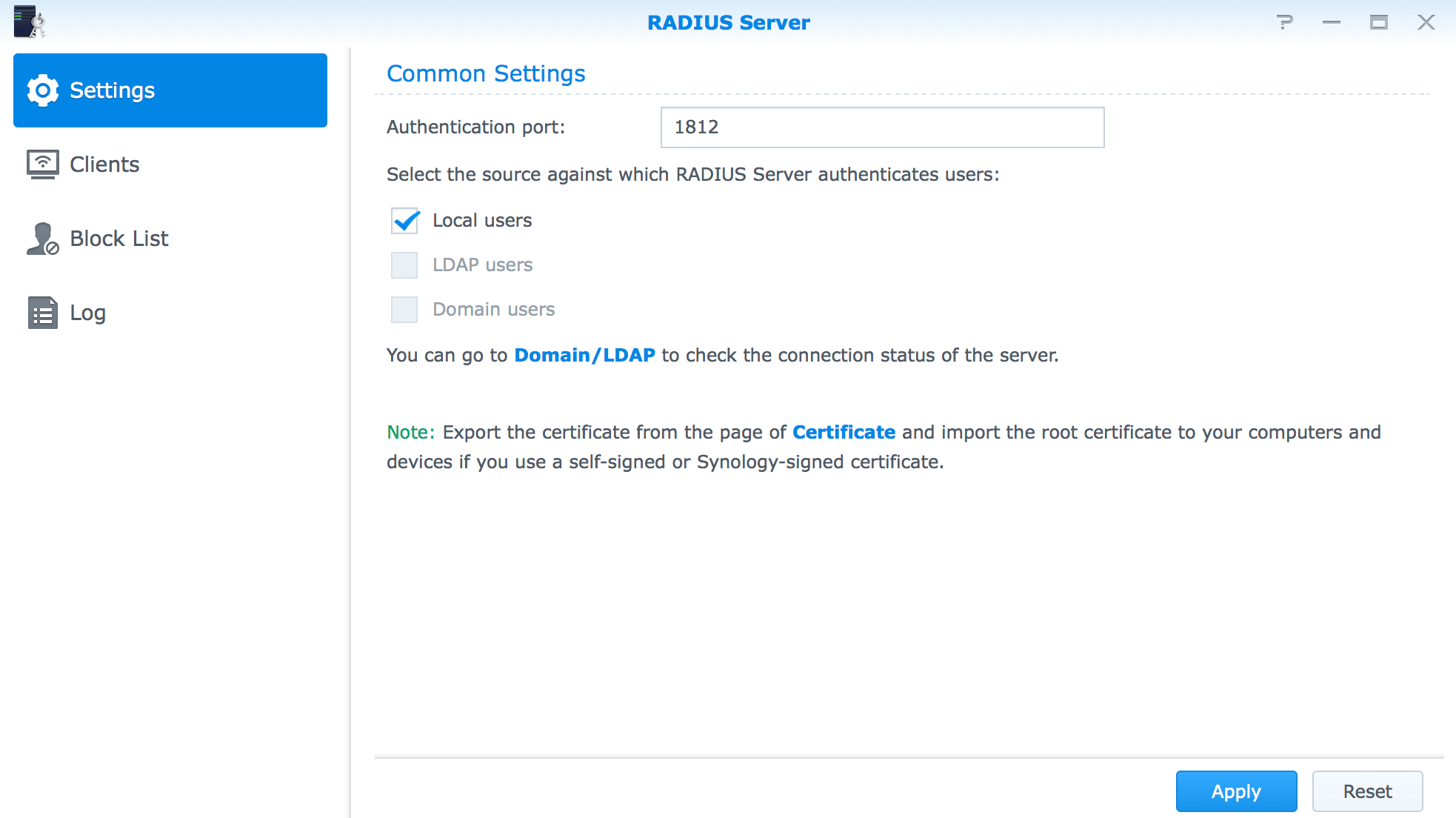 Install the RADIUS Server on a Synology - krypted