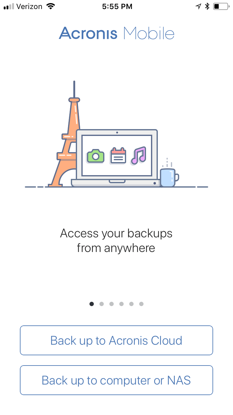 Backup Mobile Devices To Synology With Acronis True Image