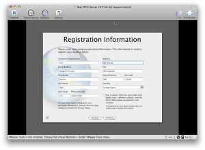 Registration Information screen
