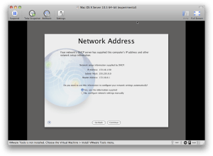 Network Address screen
