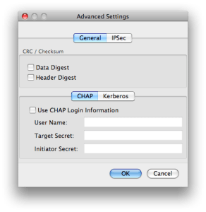 globalSAN Advanced Dialog Box