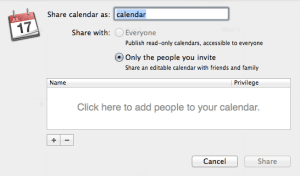 Sharing a CalDAV Calendar