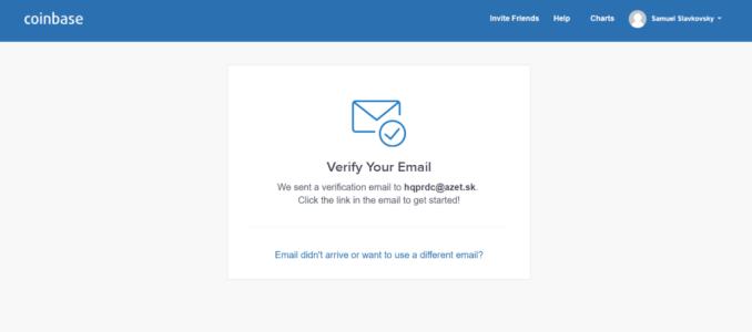 coinbase verifikacia emailu