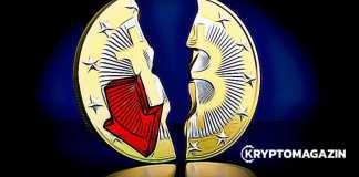bitcoin, down, propad