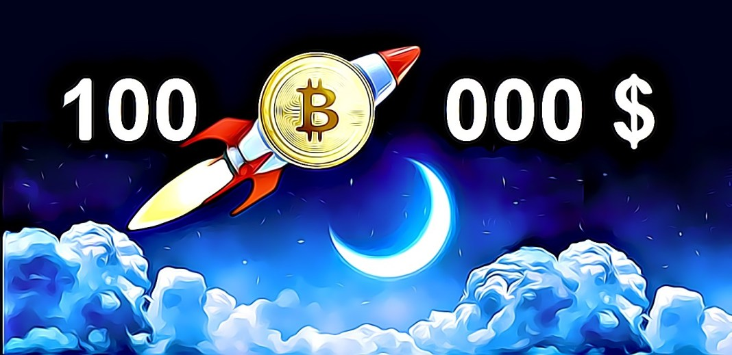 Bitcoin to the moon 100 000 $