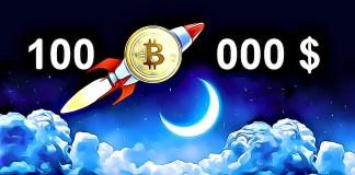 Bitcoin to the moon 100 000 $