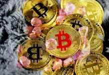 Bitcoin BTC kryptomeny coin mince