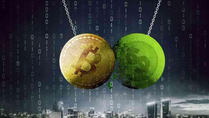 BTC verzus dolár. Zdroj: Shutterstock.com/Creativa Images