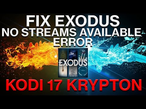 how to fix exodus no streams available