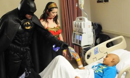 Batman, Wonder Woman, Spider-Man Cheer Children at Georgetown Hospital