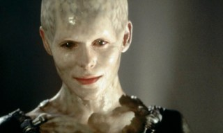 Alice Krieg as she appeared in Star Trek: First Contact as queen of the Borg.
