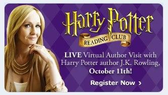 Scholastic Promotes 'Harry Potter Reading Club', J.K. Rowling Webchats Live October 11
