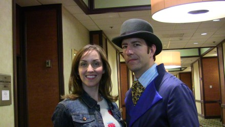 "Travis Richey, AKA ""Inspector Spacetime"", with friend."