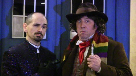 Riff Millar and Andrew Elkins as the Master and The Doctor (4th).