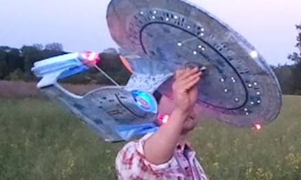 A Real Flying Starship Enterprise