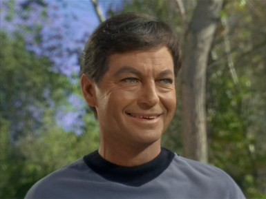Deforest Kelley, from 'Shore Leave', Star Trek, 1966.