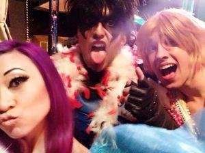 Miguel and Carl party in NOLA with Yaya Han! Source: Yaya Han's Facebook page