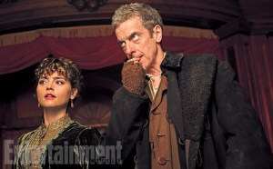A first look at the season premiere of Doctor Who starring Peter Capaldi, from Entertainment Weekly.