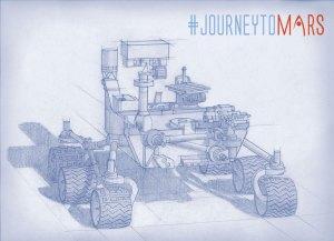 Mars 2020 Rover sketch.