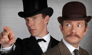 Sherlock and Watson, old-timey style.