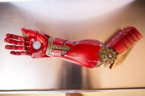 Robert Downey Jr. Presents Bionic Iron Man Arm to Young Boy